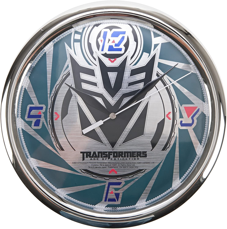 Transformers Black Scope Decepticon Logo Wall Clock