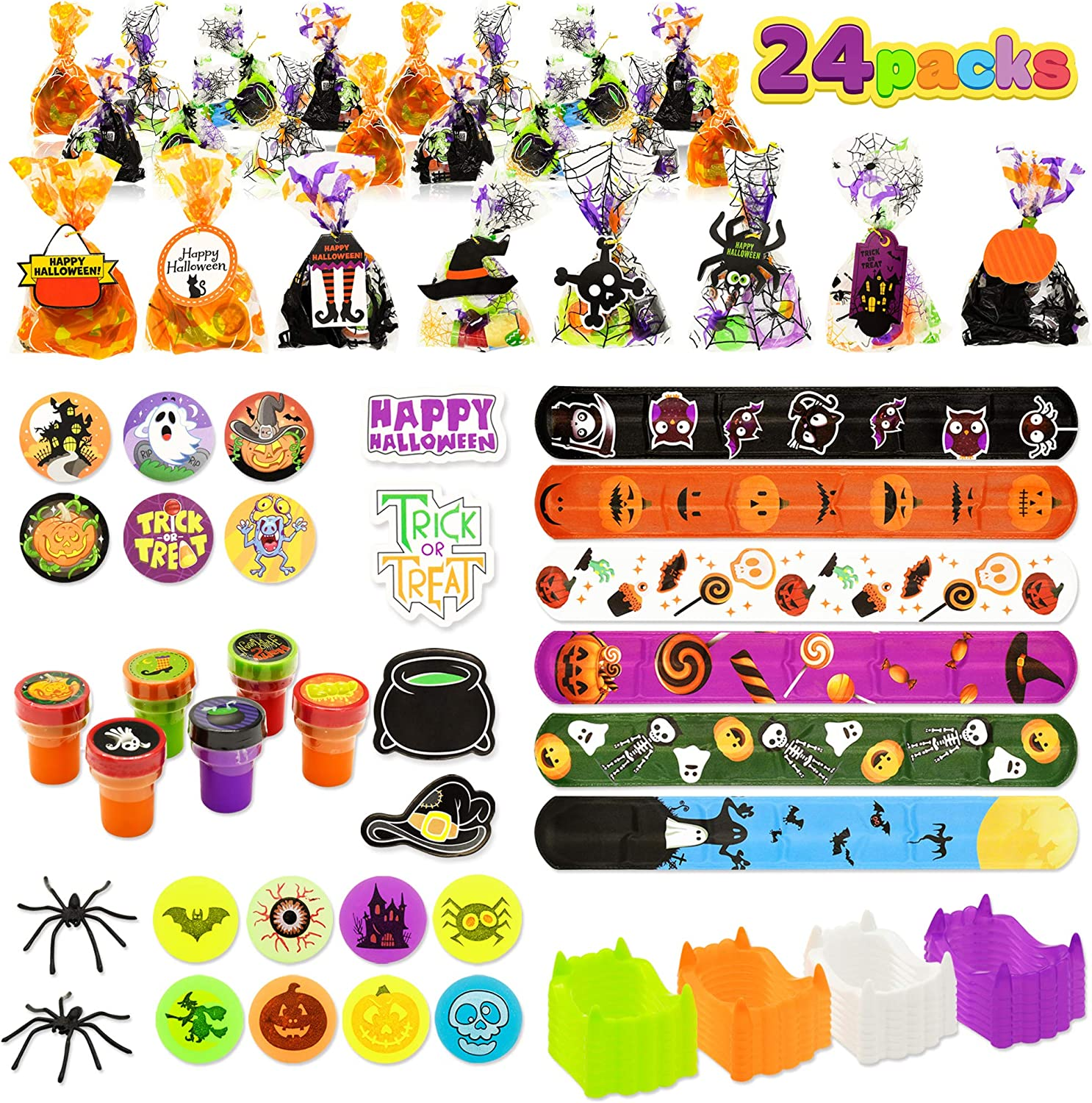 Halloween Bombing free Daily bargain sale shipping Party Favors Set 24 Pack Goody Ha Prefilled Bags with