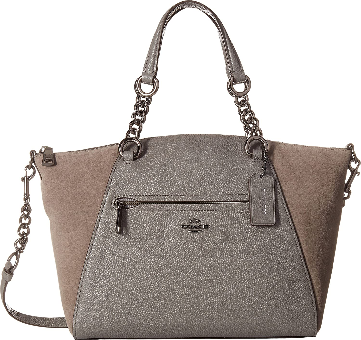 COACH Women's Mixed Leather Chain Satchel 67% OFF of fixed price Prairie Gre Dk Heather New product!!