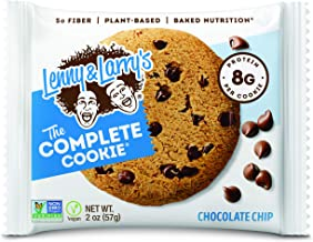 Lenny & Larry's The Complete Cookie Snack Size, Chocolate Chip, Soft Baked, 8g Plant Protein, Vegan, Non-GMO 2 Ounce Cooki...