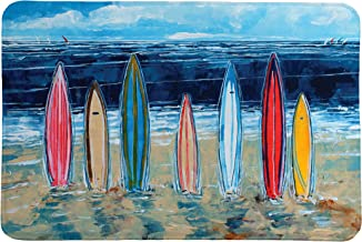 Laural Home Surfboards Memory Foam Rug, Blue