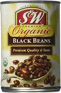 S&W ORGANIC BLACK BEANS 8/15 OZ