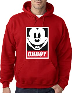 New Way 416 - Hoodie Oh Boy Mickey Mouse Face Anonymous Dope Unisex Pullover Sweatshirt