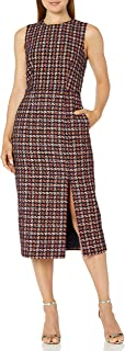 Jill Jill Stuart Women's Check Boucle Sleeveless Dress
