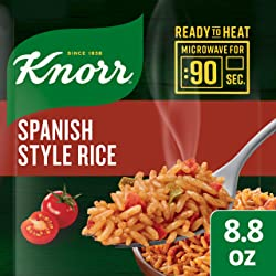 Knorr Ready to Heat Meal Maker for a quick and easy side Spanish Style Rice ready in just 90 seconds