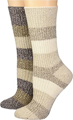 Columbia - 2-Pack Marled Stripe Micro Poly Crew