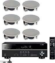 Yamaha 5.1-Channel Wireless Bluetooth 4K A/V Home Theater Receiver + Yamaha Easy-to-Install Natural Sound 2-Way Flush Moun...