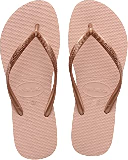 Havaianas Slim, Tongs Fille, Rose (Ballet Rose 0076), Taille fabricant 25/26 (27/28 FR)