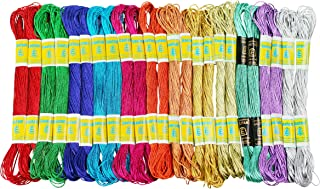 New ThreadNanny 24 Skeins of 100% Cotton Metallic Thread for Hand Embroidery - Assorted Colors