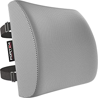 Lumbar Support for Office Chair   Back Pillow for Car   Memory Foam Orthopedic Cushion by FORTEM   Provides Low Back Suppo...