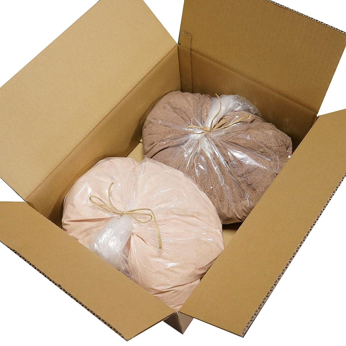 緑挽く純度ヒマラヤ 岩塩 ピンク ブラック パウダー 細粒タイプ 業務用 原料 (各5kg)
