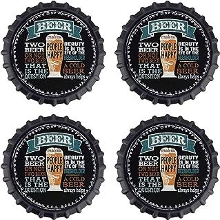 Beer Makes People Happy - Pack of 4 Drink Coasters