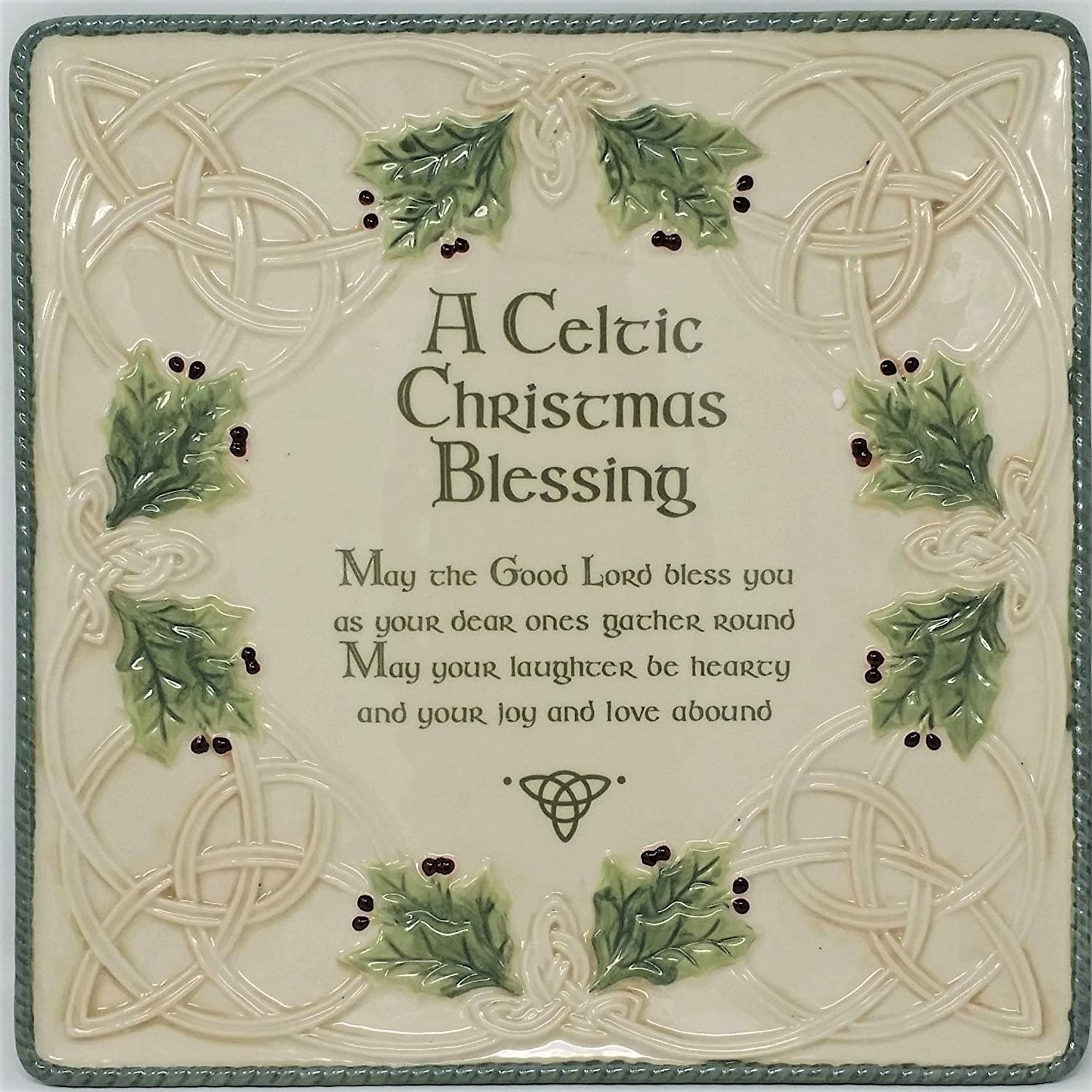 Max 42% OFF Kansas City Mall Grasslands Road Celtic Ceramic Gift Pla Boxed Christmas Blessing