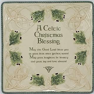 Grasslands Road 472753 Celtic Ceramic Gift Boxed Christmas Blessing Platter, 10