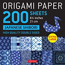 """Origami Paper 200 sheets Japanese Shibori 8 1/4"""" (21 cm): Extra Large Tuttle Origami Paper: High Quality, Double-Sided She..."""