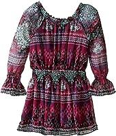 Ella Moss Girl - Cici Printed Peasant Dress (Big Kids)