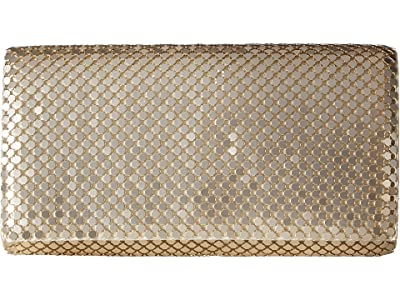 Jessica McClintock East/West Metal Mesh Roll Bag (Light Gold) Cross Body Handbags