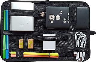 LZVTO バッグインバッグ リュック カバン 整理 収納 インナーバッグ b5 PC周辺 携帯周辺 ジモノアクセサリ固定ツール スマホアクセサリー、ケーブル、マウス、モバイルバッテリー、USB充電器などの小物収納 ノートPC・タブレットケース 登山リュック用 出張用 旅行用 トラベル用 インナーケース B5サイズ (黒, 27cm*19cm)