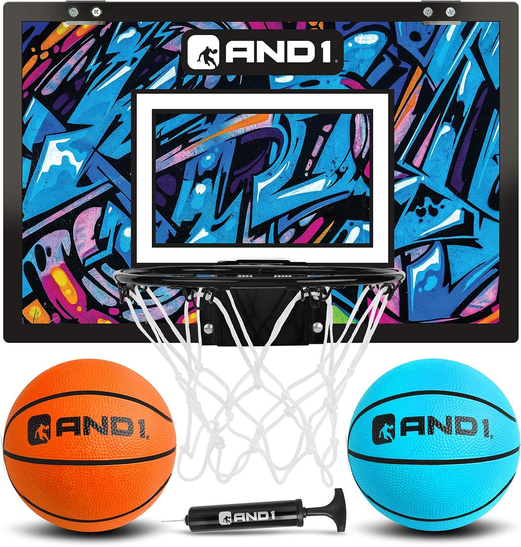 "AND1 Mini Basketball Hoop: 4 years warranty Pre-Assembled Porta Mesa Mall 18""x12"""