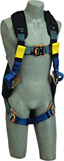 3M DBI-SALA ExoFit XP 1110844 Arc Flash Nylon Harness, PVC Back D-Ring, Web Rescue Loops, Nomex/Kevlar Comfort Padding, Leather Insulators, QC Leg Straps, LG, Navy/Black