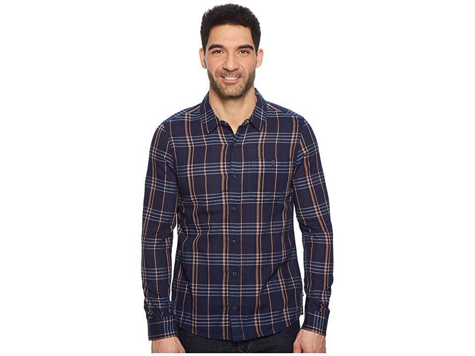Toad&Co Beckmen Long Sleeve Slim Shirt (Dark Indigo) Men