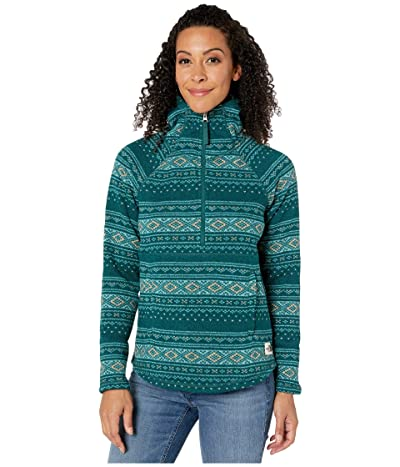 The North Face Printed Crescent Hooded Pullover (Ponderosa Green Fair Isle Print) Women