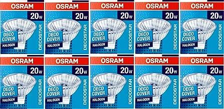 Projecteur halogène oSRAM lot de 10 ampoules halogènes decostar 51S 12 v 20 w 36° gU 5,3