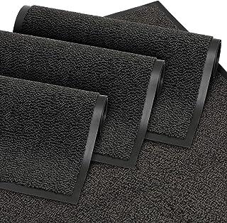 comprar comparacion GadHome Felpudo de Entrada Negro 60x90 cm | Alfombra Exterior para Puerta, Impermeable, Lavable para Atrapar Suciedad para...