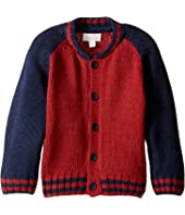 Pumpkin Patch Kids - Raglan Baseball Cardigan (Infant/Toddler/Little Kids/Big Kids)