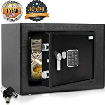 Home Security Electronic Lock Box – Safe with Mechanical Override, Digital..