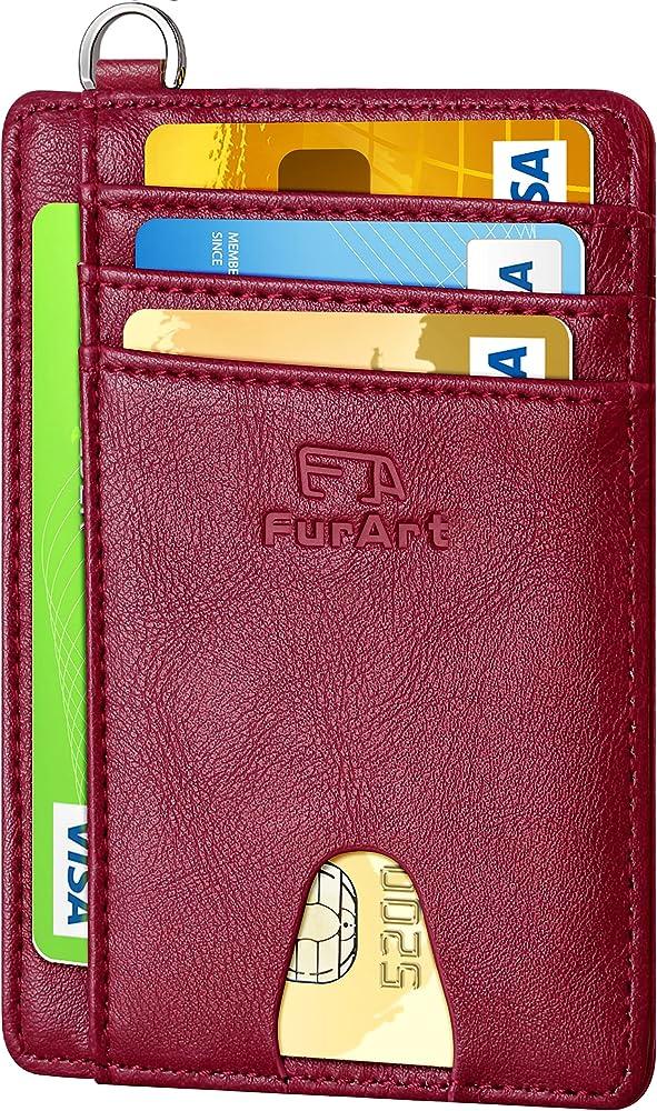 Furart porta carte di credito con protezione anticlonazione portafoglio in pelle unisex FA-CW-Parent-1