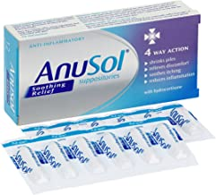 Anusol - Soothing Relief Suppositories - Shrinks piles, relieves discomfort, Soothes Itching & Reduces inflammation - Pack of 12