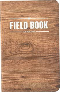 "Field Notebook / Pocket Journal - 3.5""x5.5"" - Wood Pattern - Graph Memo Book - Pack of 5"