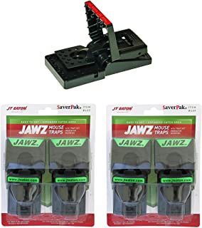 SaverPak 4 Pack - Includes 4 JT Eaton Jawz Mouse Traps for use with Solid or Liquid Baits
