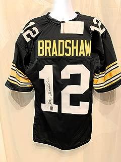 Terry Bradshaw Pittsburgh Steelers Signed Autograph Custom Jersey Black Bradshaw Holo JSA Witnessed Certified