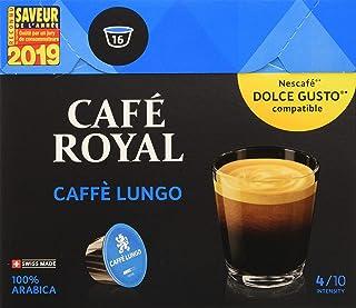 Café Royal Caffé Lungo 48 dosettes Compatibles avec le Système NESCAFE (R)* Dolce Gusto (R)*, Intensité 4/10; (Lot de 3X16)