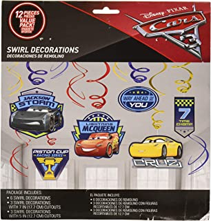 Disney Cars 3 Swirl Decorations
