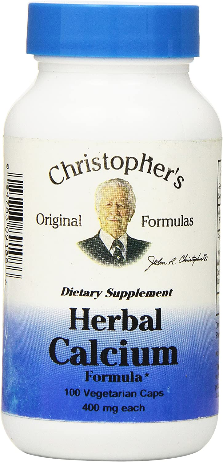 Dr Free Shipping Cheap Bargain Max 50% OFF Gift Christopher's Formula Herbal Calcium 400 Cou mg 100