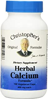 Dr Christopher's Formula Herbal Calcium Formula, 400 mg, 100 Count