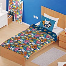 Octonauts 'Shark Mission' Single Panel Duvet Cover Reversible Bedding Set (Junior Cot Duvet Cover)
