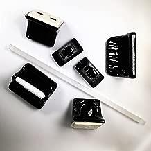 Vogue Tiles 5-Piece Retro Black Glazed Ceramic Bathroom Accessory Kit
