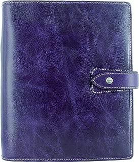 Filofax 2019 A5 Malden Organizer, Leather, Purple, Paper Size 8.25 x 5.75 inches (C025851-19)