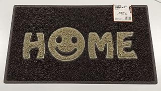 Nicoman - Felpudo para Puerta de casa con Cara Sonriente, Color marrón con Inserciones de Color Beige, 75 x 44 cm, Borde B...