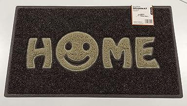 Nicoman Smiley Face Home Door Welcome Barrier Dirt-Trapper Floor Mat Patio Garden Conservatory Matt Indoor Outdoor, Spaghe...