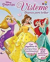Princesas. Vísteme. Diseños para brillar: Con pegatinas de purpurina multicolor (Disney. Princesas)