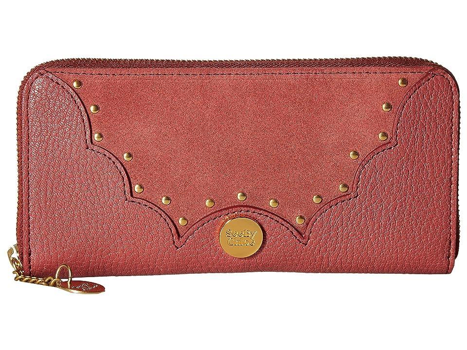 See by Chloe Nick Continental Wallet (Rusty Pink) Wallet Handbags