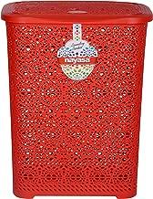 Nayasa Nayasa Flower Multipurpose Plastic Laundry Basket - Red