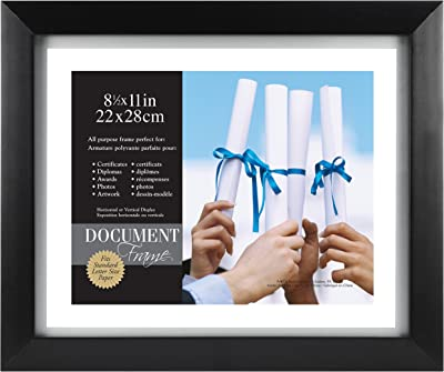 13.5x16.5 in Wooden Picture Frame cream /& blue mat opening is 8x11 in.