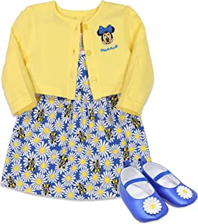 Minnie Mouse Girls Sleeveless Dress Jacket and Shoes Gift Set