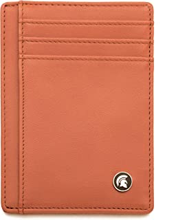 POWR Mens Wallet, Slim RFID Blocking Minimalist Credit Card Holder (Orange), Holds up to 7 Cards and Bank Notes, Ideal for...